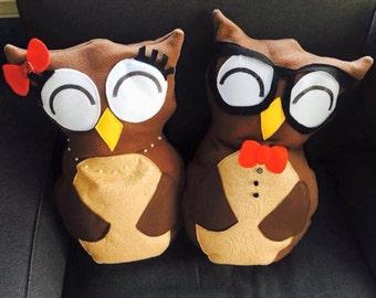 Owl Pillows (Set of 2)