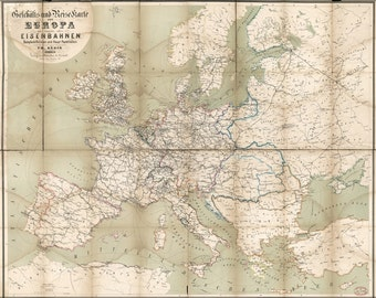 24x36 Poster; Map Of Europe 1866 In German