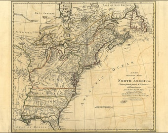 24x36 Poster; 1768 Map Of North America United States Colonies