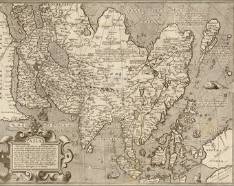 24x36 Poster; Map Of Asia 1602