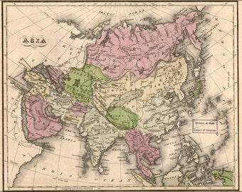 24x36 Poster; Map Of Asia 1835
