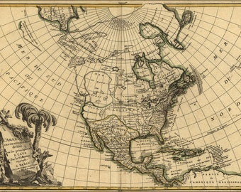 24x36 Poster; Map Of North America Pre United States  1762 P1