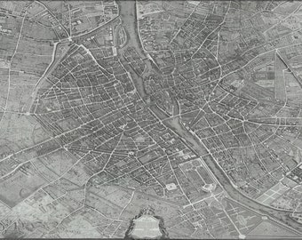 24x36 Poster; Turgot Map Of Paris France 1736
