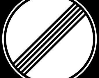 24x36 Poster; Autobahn Deregulation Sign