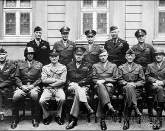 24x36 Poster; U.S. Generals, World War Ii, Europe