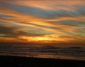 24x36 Poster; Ocean Beach Sunset Fall 2007 #031215