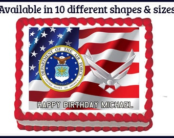 Edible Cake Images Air Force : Popular items for us air force logo on Etsy