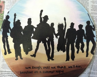 Edward Sharpe & The Magnetic Zeros Album Art Custom Painting on Vinyl Record - Up From Below