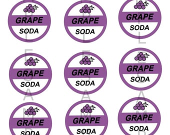 Disney Up Grape Soda - Digital Collage Sheet - One inch circles