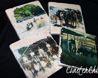 Custom Photo Tile Coasters (Set of 4) by CoasterChick