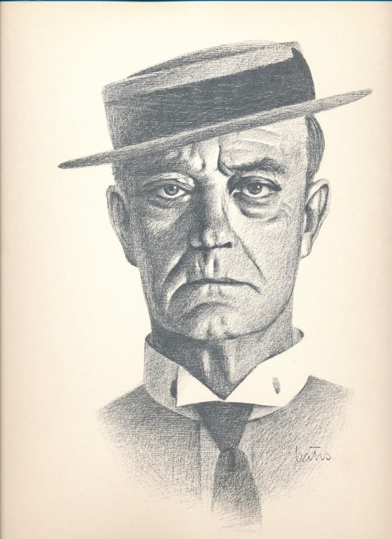 Bill Bates Unframed Print of Buster Keaton Comedy Legend
