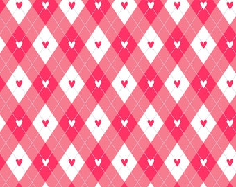 Valentines Argyle vinyl Photography Backdrop