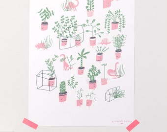A3 poster / terrariums and funny plants