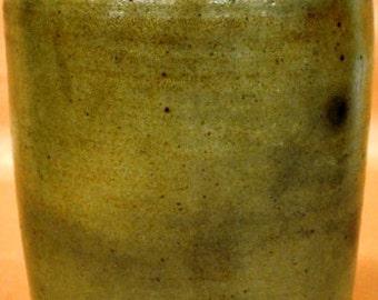 "Antique stoneware jar 11"" tall, 8"" diameter"