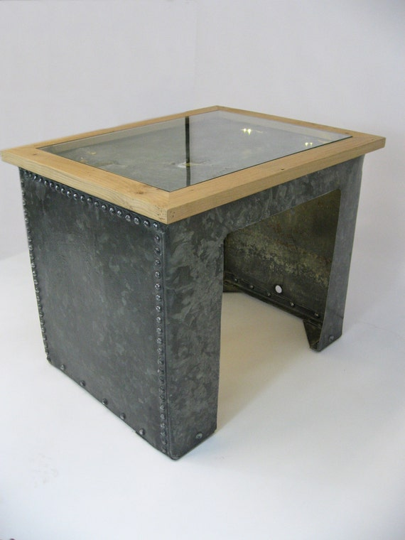 Items Similar To Illuminated Galvanized Water Tank Coffee Table On Etsy