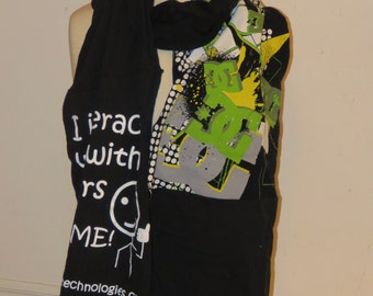 Re-cycled t-shirt scarf