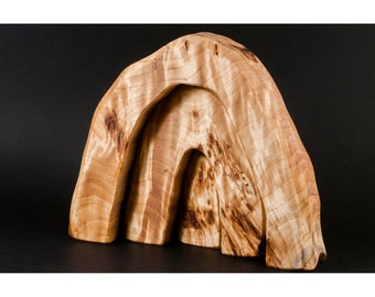 Handmade wooden cave puzzle for children