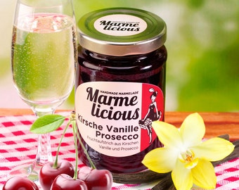 Cherry Vanilla Prosecco jam jam