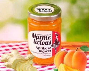 Apricot ginger jam jam