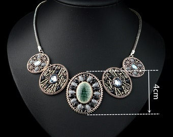 New Women Bohemian Crystal Rhinestone Choker Necklace NL1823