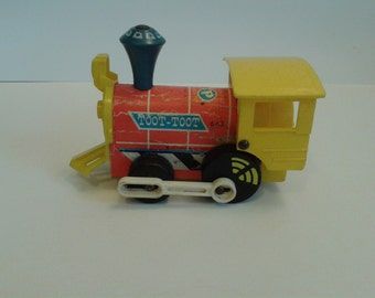 "Vintage Fisher Price ""#643 Toot Toot Train  "" 1960's Pull Toy"