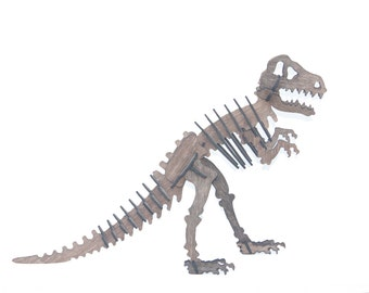 3D Dinosaur Puzzle T-Rex, wooden, Jurassic inspired