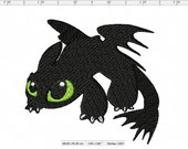 Pouncing Toothless Inspired Machine Embroidery Design