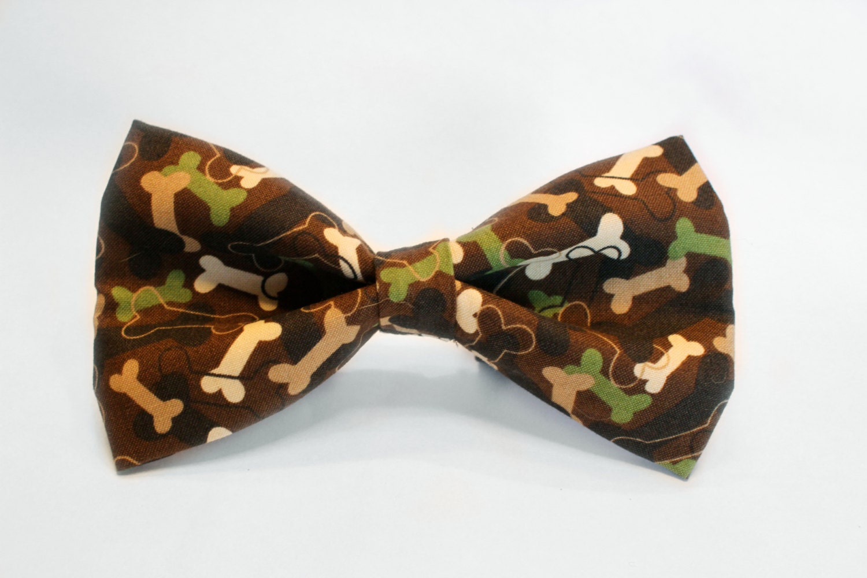 camo bones bow tie by bugco on etsy