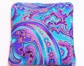 Lavender Sachet Potpourri, Lavender Sachet, Purple Blue Paisley Lavender Sachet, Closet Sachet, drawer sachet, Dried Herb, 1 sachet 4 x 4