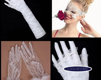 Delicate Snow White Mask and white gloves