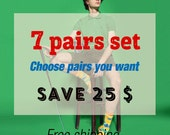Make your set by yourself. Choose seven pairs you want. Save your money. Free worldwide delivery