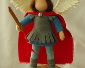 Saint Michael - waldorf doll (13 - 15 cm)