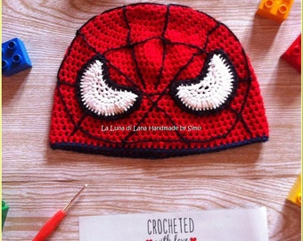 Baby Hat inspired by Spiderman, cotton.