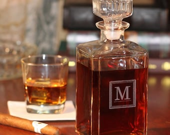 Glass Whiskey Decanter - (g101-1200) - Free Personalization