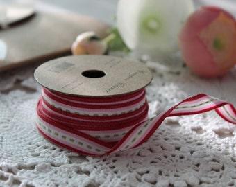 Multi- Coloured Grossgrain ribbon reel/ RED/LIGHT PINK 3m