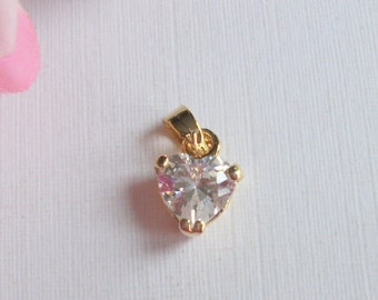 Vintage Goldplated Rhinestone Heart Locket, 9ct Goldplated, Vintage Wedding, Vintage Gift