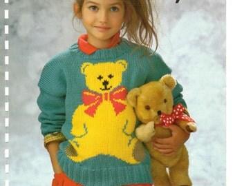 teddy bear sweater dk knitting pattern 99p pdf