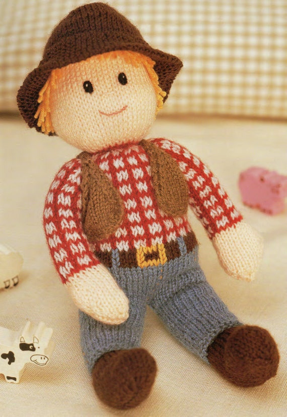 cow boy toy dk knitting pattern 99p pdf