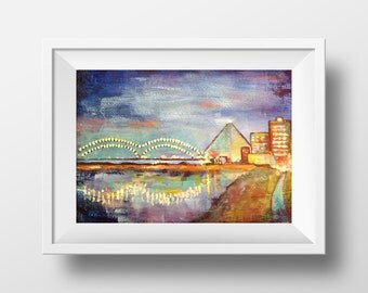 Memphis Print, Acrylic Painting, Fine Art Print , Giclee Print , Wall Art , Wall Décor