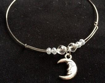 Adjustable Moon Bracelet
