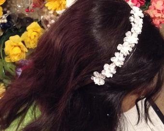 Wedding hairband flowers hairpiece, bridesmaids, flower girl bridal headband