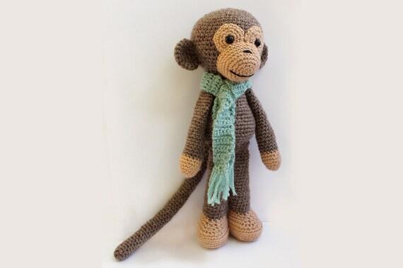 Amigurumi Stuffed Animals Patterns : PATTERN : Monkey - Amigurumi Monkey-pattern - Crochet ...