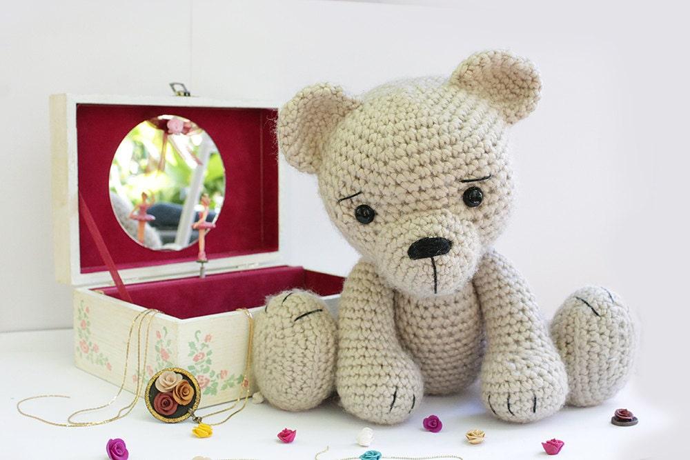 Knitting Patterns Teddy Bear Stuffed Animals : Crochet Bear teddy PATTERN Amigurumi bear pattern
