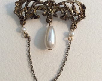 Vintage Gold Pin,Vintage Jewelry, Vintage pin, Vintage Brooch