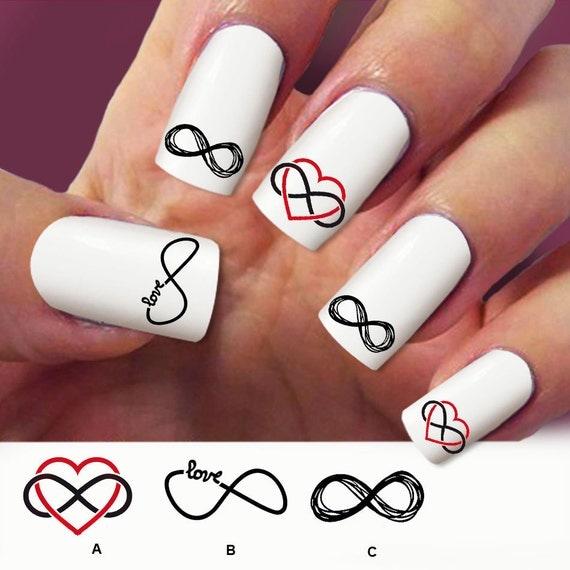 Simbolo Infinito Decal Delle Unghie Nail Art 60 Decalcomanie