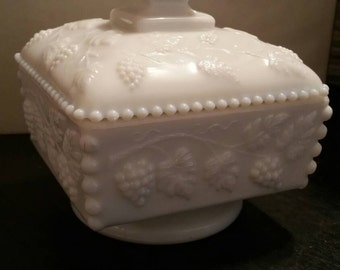 Westmoreland Milk Glass Candy Dish