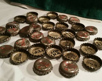 Coca Cola old bottle caps with wording