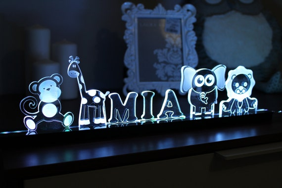 Personalized Nursery LED Childrens Acrylic by ...