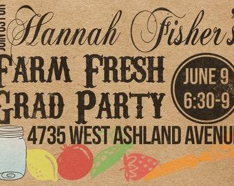 Custom Farm Fresh Party Invitation