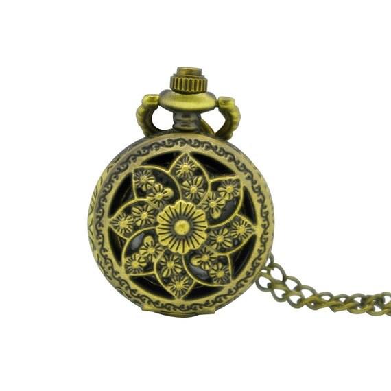1pcs 25mm retro mini pocket necklace chainnecklace